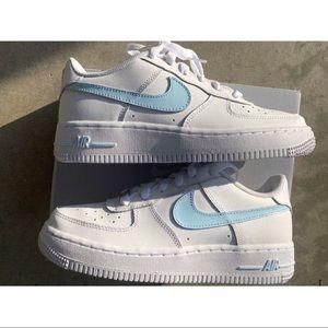 ⚡️Custom Nike Air Force 1 Shoes (Baby Blue)⚡️